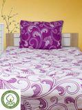 ELIZABET fialové 140x200cm bavlněné povlečení