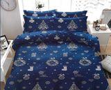 VÁNOCE modré bavlněné povlečení 140x200cm
