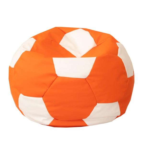Levně Fotbalový míč velký - sedací pytel oranžovo bíly