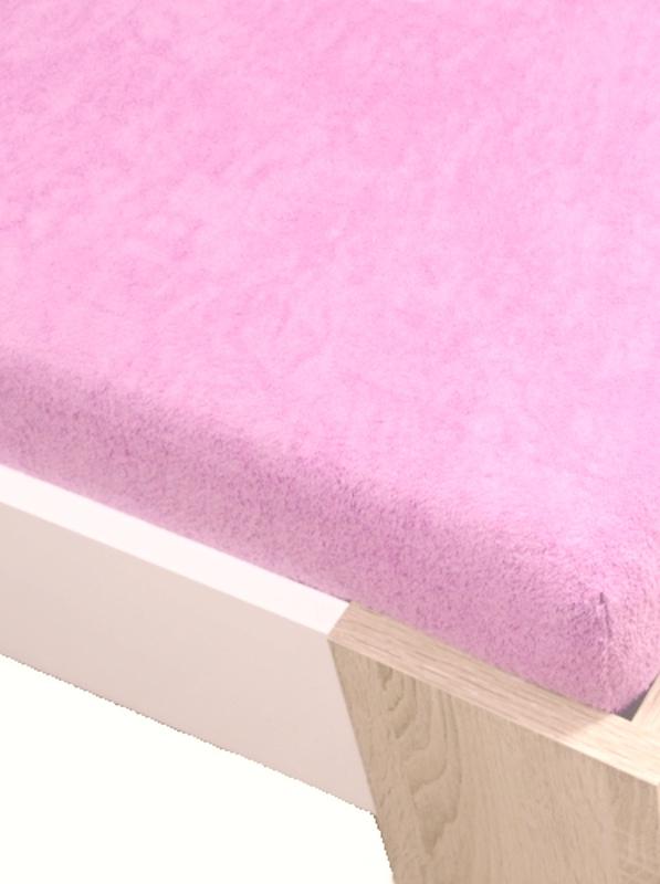 Levně Homa froté prostěradlo růžová světlá - 180 x 200 cm