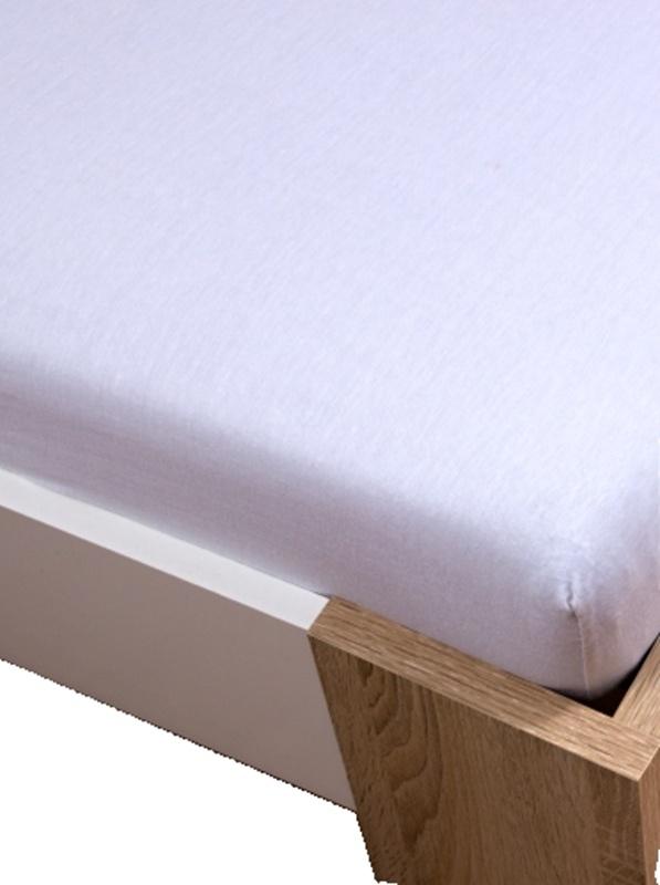 Homa jersey prostěradlo bílá 60x120cm