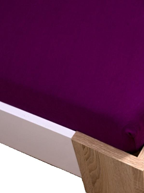 Homa jersey prostěradlo fialová 60x120cm