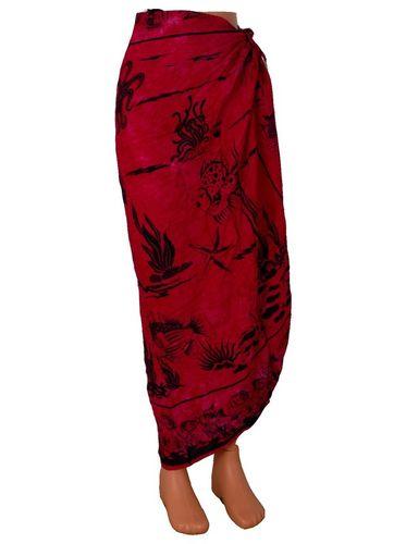 Šátek na pláž 110x130cm červený