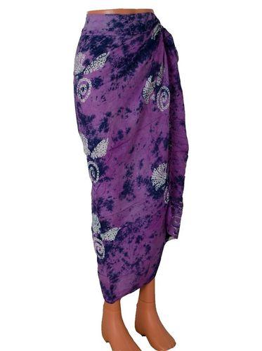 Šátek na pláž 110x130cm fialová