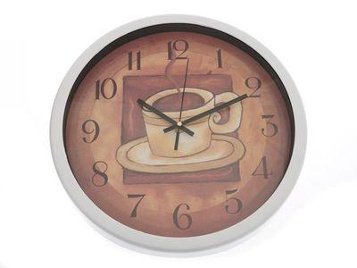 CUP of COFFEE nástené hodiny hnědé