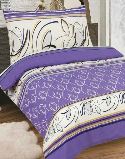 FLORETTA fialová 140x200cm bavlněné povlečení