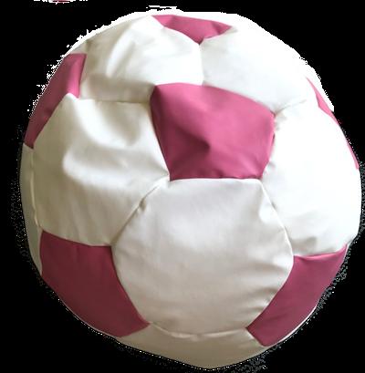Fotbalový míč malý  - sedací pytel ružovo bíla
