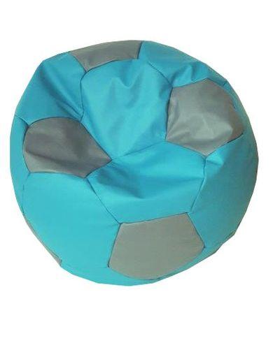 Fotbalový míč malý sedací pytel tyrkysová šedá