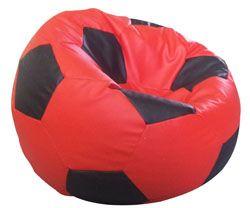 Fotbalový míč velký  sedací pytel červený a  šedý