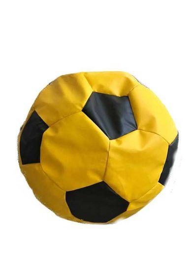 Fotbalový míč velký  - sedací pytel černo žlutý