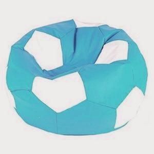 Fotbalový míč Velký sedící vak  tyrkysový a  bílý