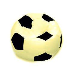 Fotbalový míč XL-sedící courtside krémová, hnědá