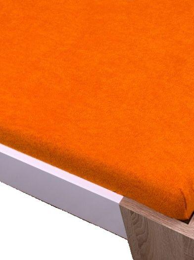 Homa froté prostěradlo oranžová
