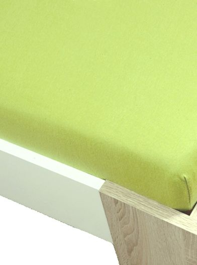 Homa jersey prostěradlo zelená 60x120cm
