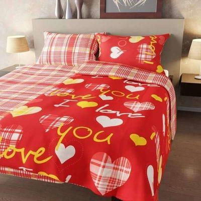 Homa povlečení LOVE YOU červená - 140x200cm bavlna