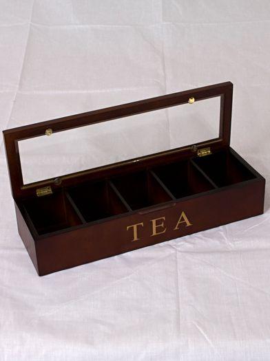 Krabice na čaj 38x12x8cm hnědá