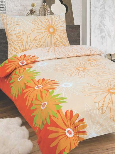 LUISA bavlněné povlečení 140x200cm se zipem oranžová