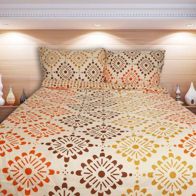 MADRID oranžová - bavlněné povlečení 140x200cm