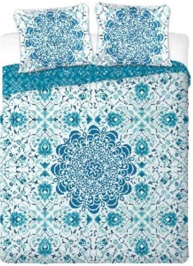 MANDALA  bavlněné povlečení 200x220cm modré