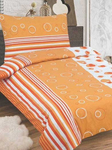MARCELA bavlněné povlečení 140x200cm se zipem oranžová