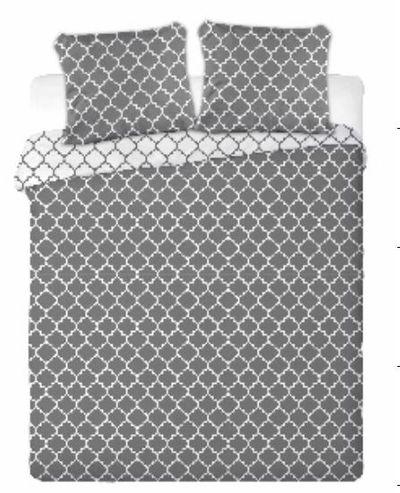 MAROKO bavlněné povlečení 200x220cm šedé