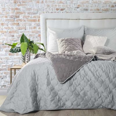 MEGY přehoz na postel 200x220cm Silver