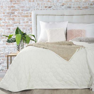 MEGY přehoz na postel 200x220cm Smetanová