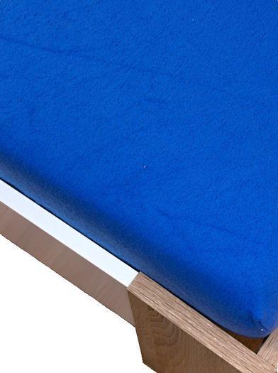 Tmavě modrá prostěradlo flisové