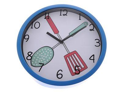 Nástěnné hodiny Kitchen - modré