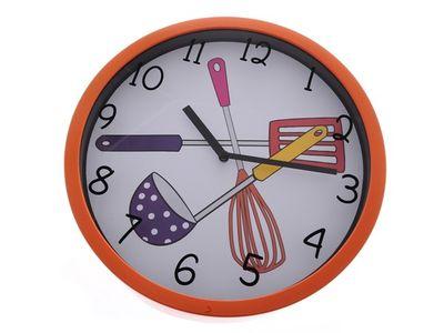 Nástěnné hodiny Kitchen - oranžové