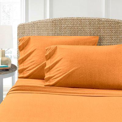Oranžová bavlněné prostěradlo Homa