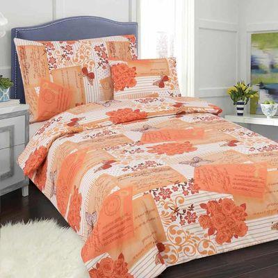 POSTCARD oranžová  140x200cm Bavlněné povlečení