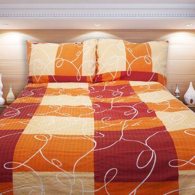 PURA oranžové povlečení KREP 140x200cm