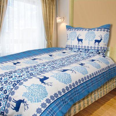 REINDEER modrá - 140x200cm bavlněné povlečení