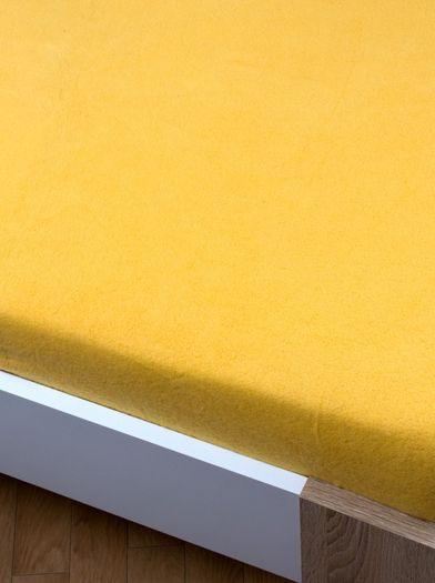 Žlutá prostěradlo flisové