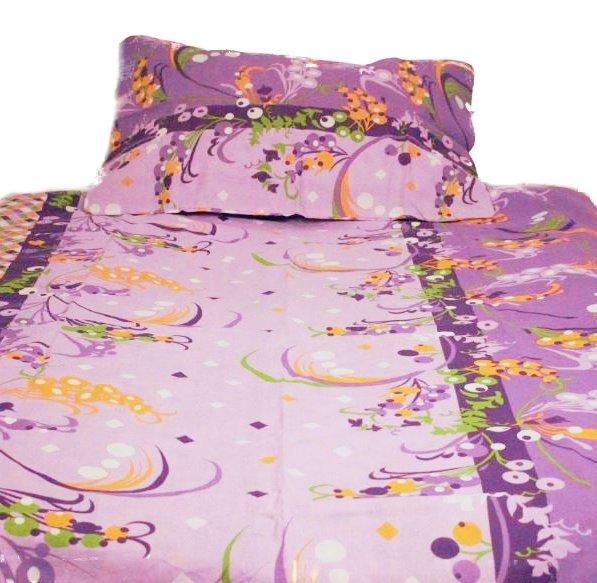 ŠÍPKY fialové-140x200cm Bavlnené povlečení - 1 x polštář 1 x přikrývka - Fialová