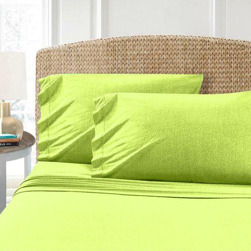 Světle zelené bavlněné prostěradlo Homa